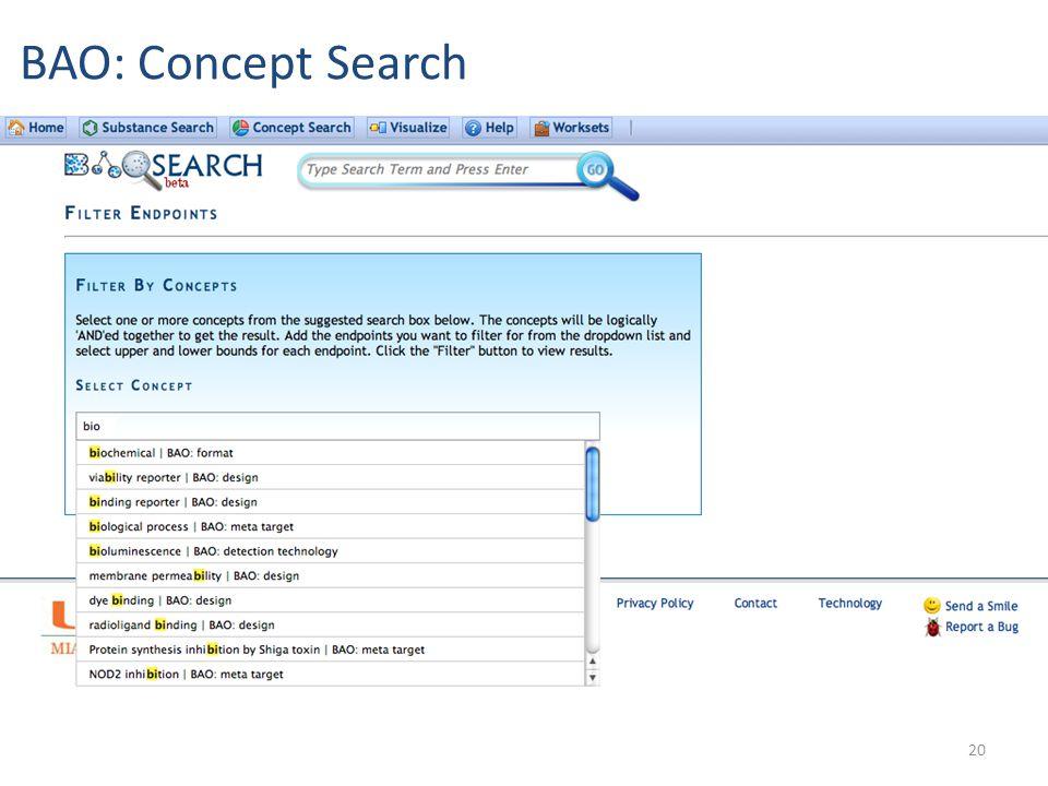 20 BAO: Concept Search