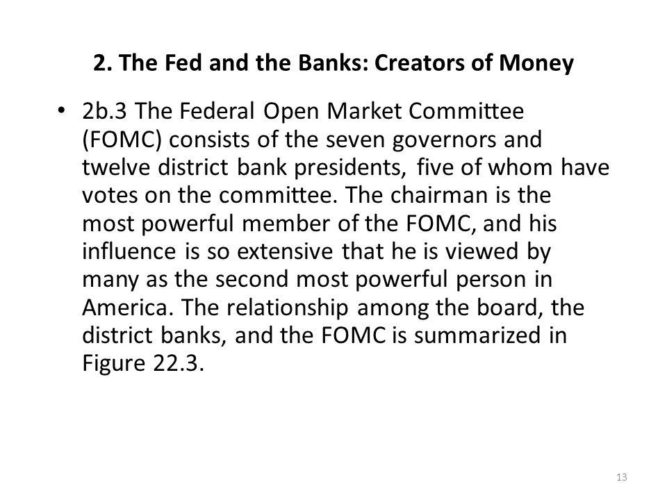 Chairman of the Federal Reserve System Ben Bernanke Incumbent since 2006 August 11, 1987 – January 31, 2006 Alan Greenspan 14