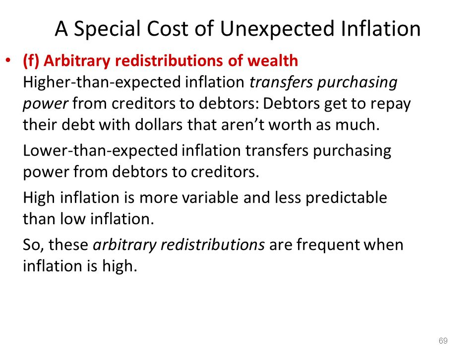 70 The Costs of Inflation All these costs are quite high for economies experiencing hyperinflation.