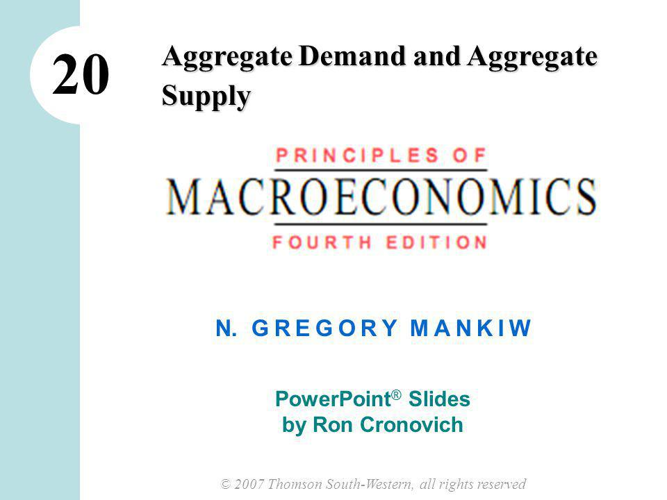 11 CHAPTER 33 AGGREGATE DEMAND AND AGGREGATE SUPPLY Why the AD Curve Slopes Downward Y = C + I + G + NX C, I, G, NX are the components of agg.