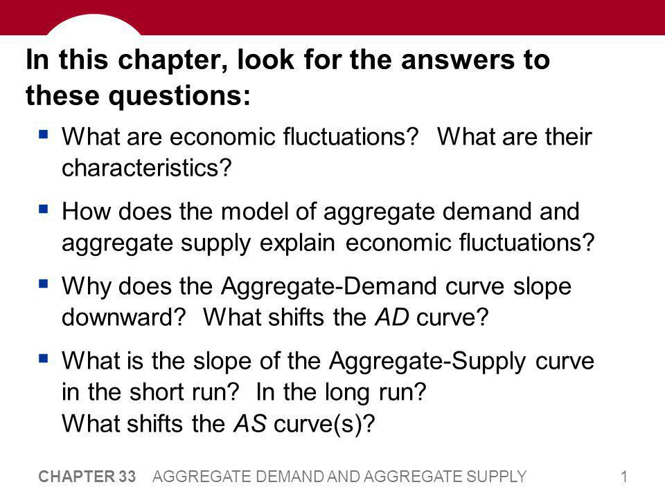 42 CHAPTER 33 AGGREGATE DEMAND AND AGGREGATE SUPPLY SRAS and LRAS  The imperfections in these theories are temporary.