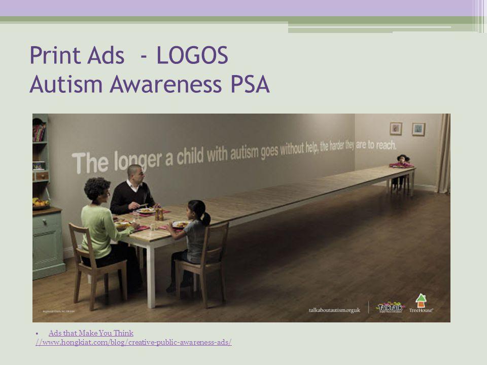 Print Ads - LOGOS Autism Awareness PSA Ads that Make You Think //www.hongkiat.com/blog/creative-public-awareness-ads/