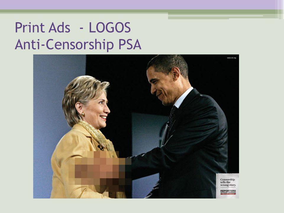 Print Ads - LOGOS Anti-Censorship PSA