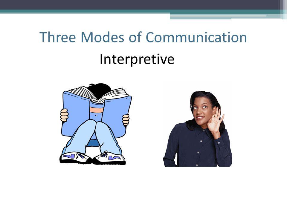 Three Modes of Communication Interpretive