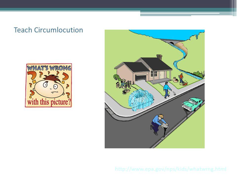 Teach Circumlocution http://www.epa.gov/nps/kids/whatwrng.html