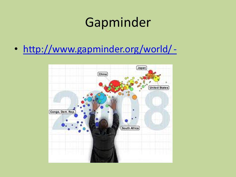 Gapminder http://www.gapminder.org/world/ -
