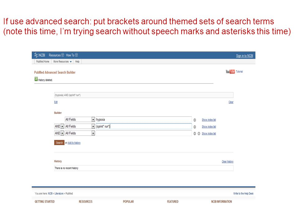 If use advanced search: put brackets around themed sets of search terms (note this time, I'm trying search without speech marks and asterisks this time)