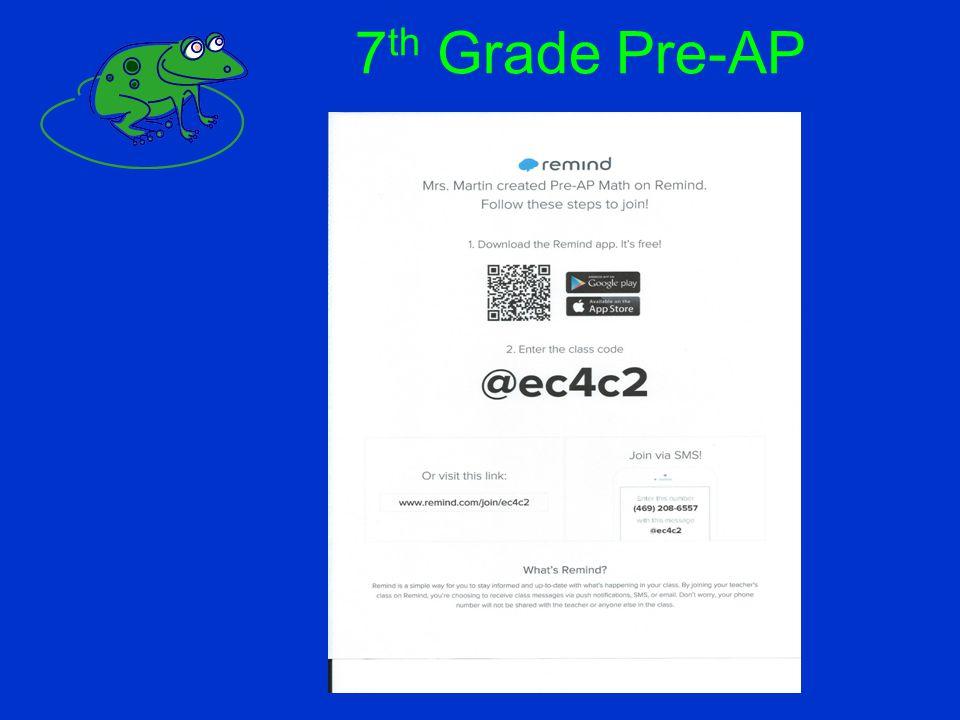 7 th Grade Pre-AP