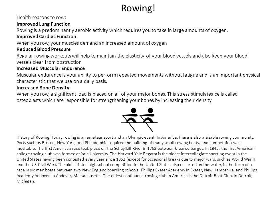 Rowing.