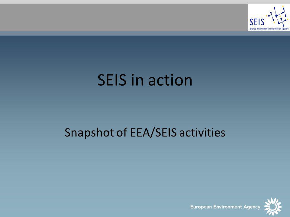 SEIS in action Snapshot of EEA/SEIS activities