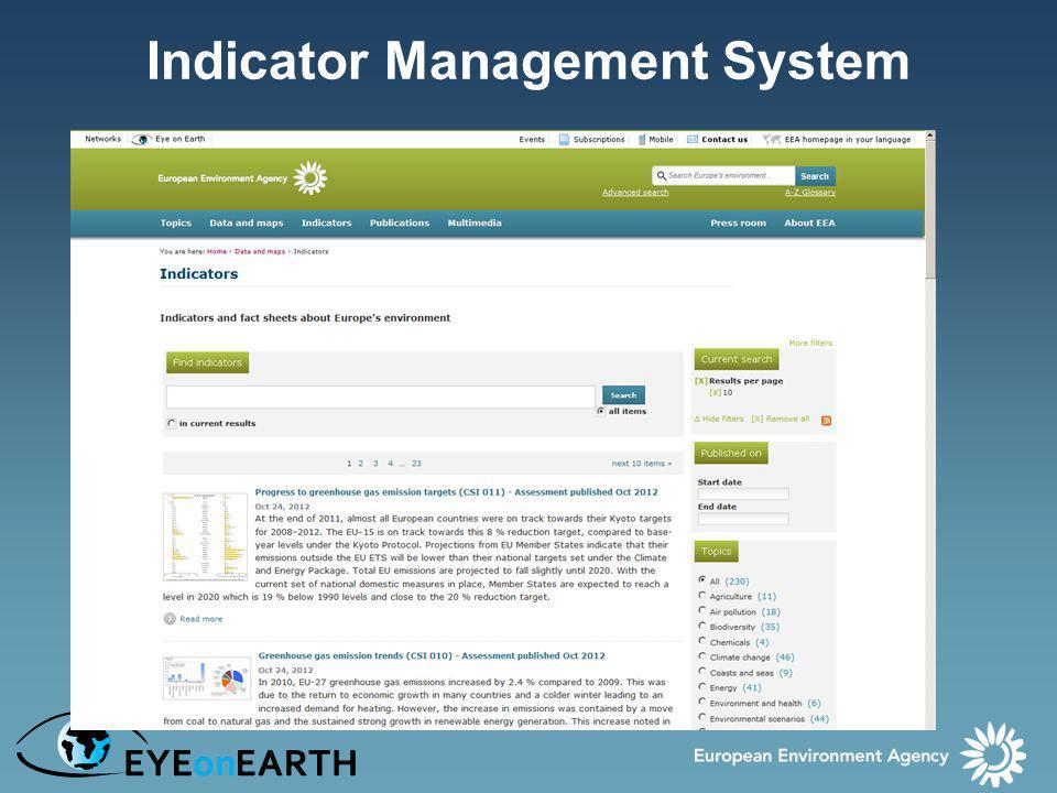 Indicator Management System