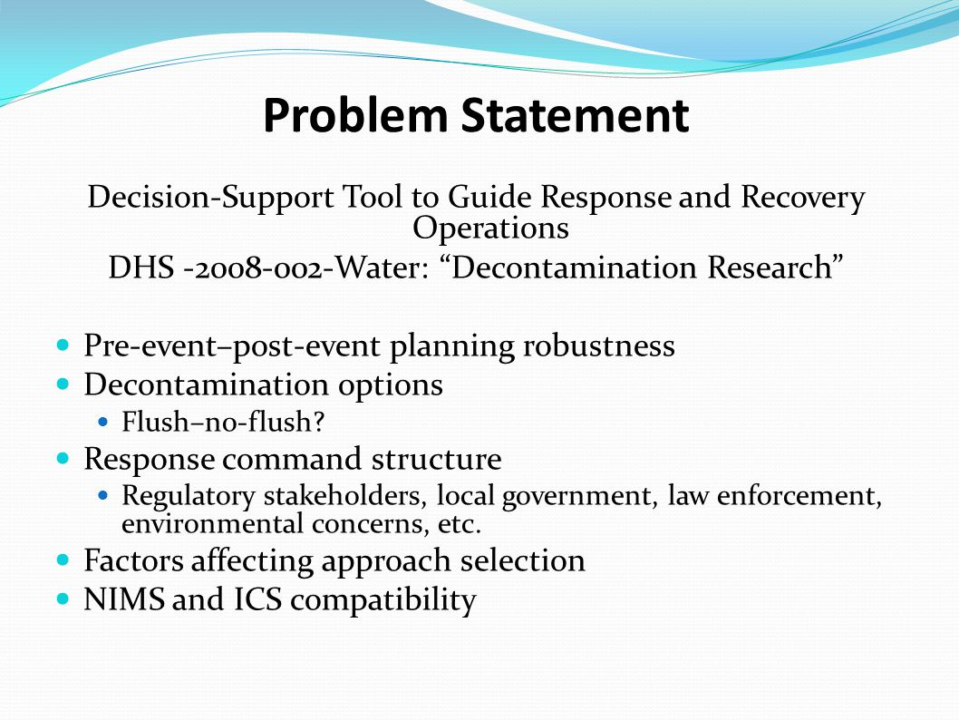 Project Focus Multi-scale Local and Regional  Resiliency data  Decision support National  Extrapolated impact and exposure  Policy support Multi-faceted Fact sheets  Scale relevance Expert system  Rules-based Graphical Decision Support Systems (DSS)  Distribution system Training materials  Web-delivered