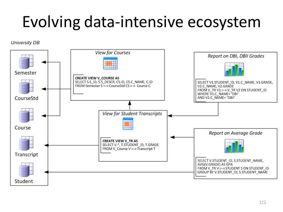 Evolving data-intensive ecosystem 112