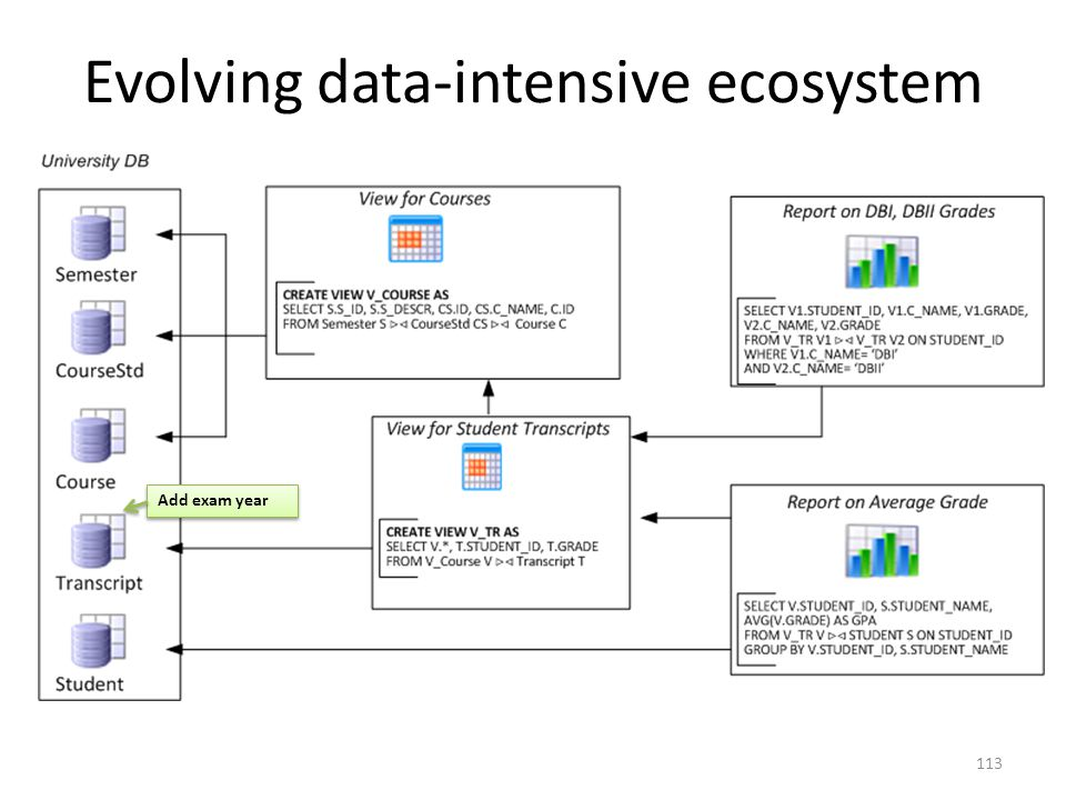 Evolving data-intensive ecosystem Add exam year 113