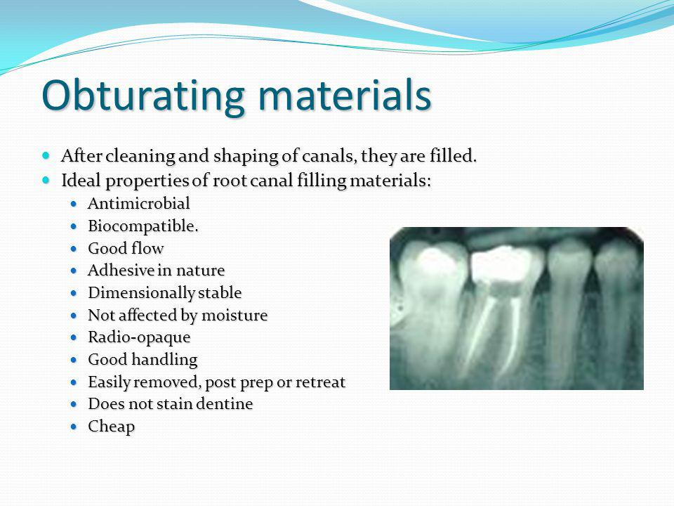 Glass Ionomer Cements Bonds to tooth substance Bonds to tooth substance Biocompatibilty (Toxicity reduces when set) Biocompatibilty (Toxicity reduces when set) Some antibacterial properties Some antibacterial properties Seal superior to amalgam Seal superior to amalgam