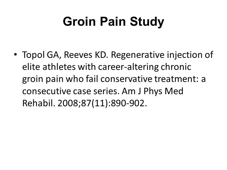 Groin Pain Study Topol GA, Reeves KD.