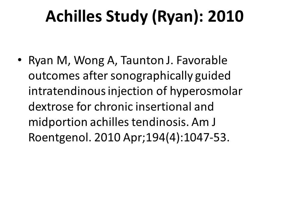 Achilles Study (Ryan): 2010 Ryan M, Wong A, Taunton J.