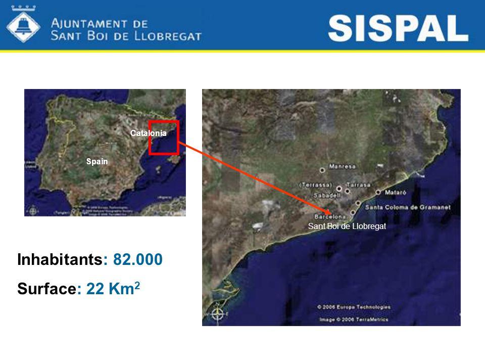 Inhabitants: 82.000 Surface: 22 Km 2 Sant Boi de Llobregat Spain Catalonia