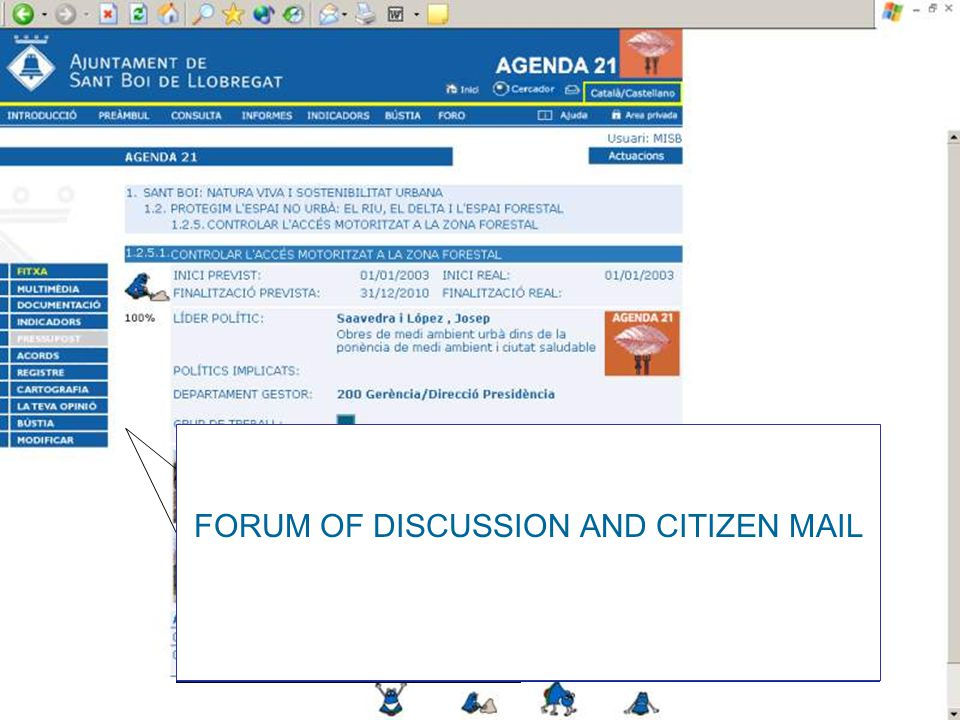 FORUM OF DISCUSSION AND CITIZEN MAIL