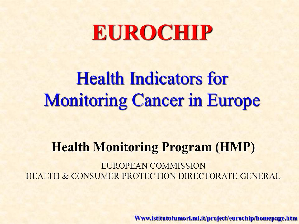 GROUP OF SPECIALISTS on PREVENTION Amsterdam, 12th-13th December 2002 EUROCHIP Chairperson: Dr Benedetto Terracini