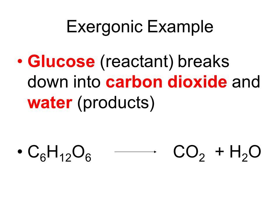 Exergonic: Releasing Energy Burning One big step Breaking bonds Many smaller steps