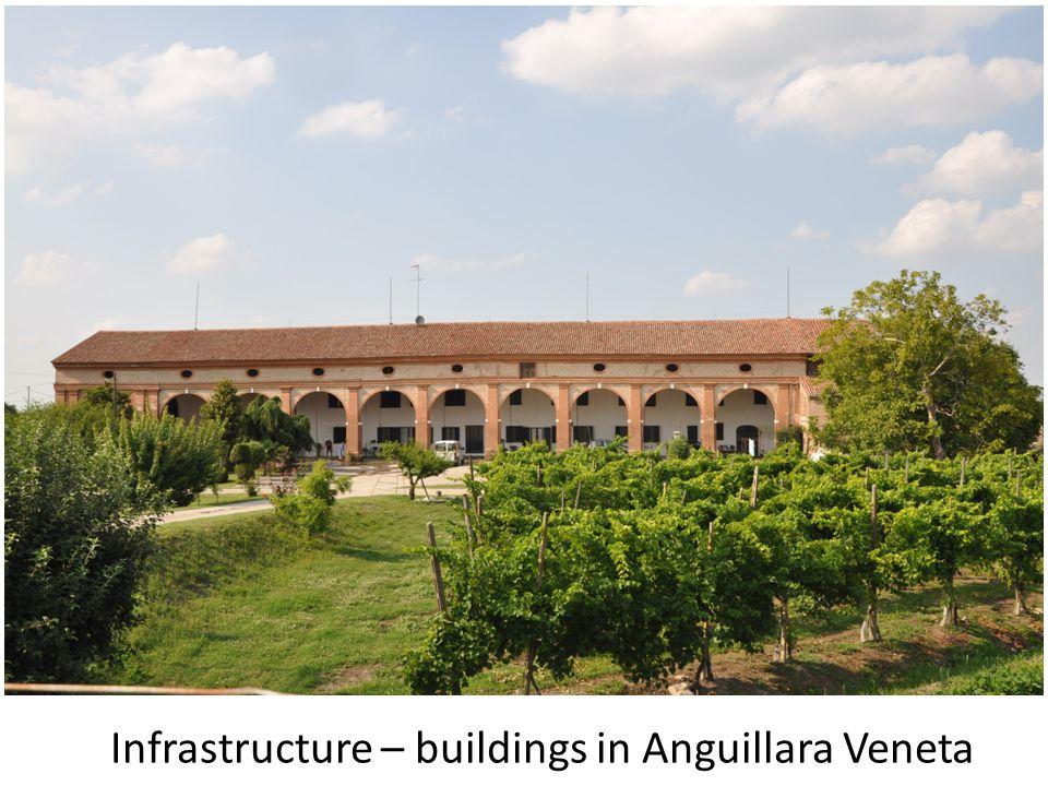 Infrastructure – buildings in Anguillara Veneta