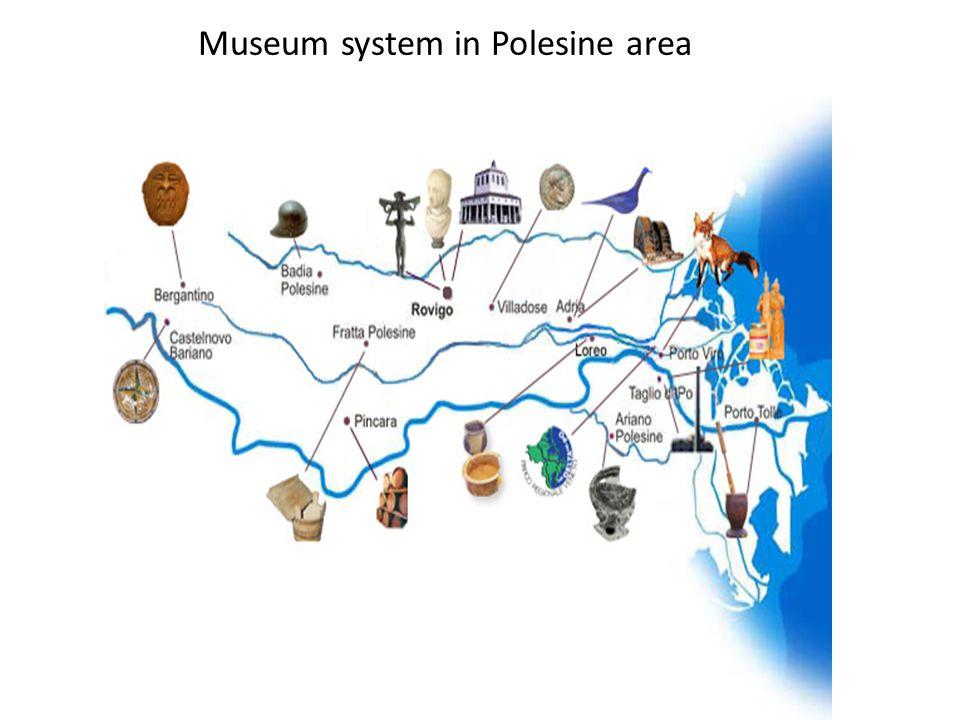 Museum system in Polesine area
