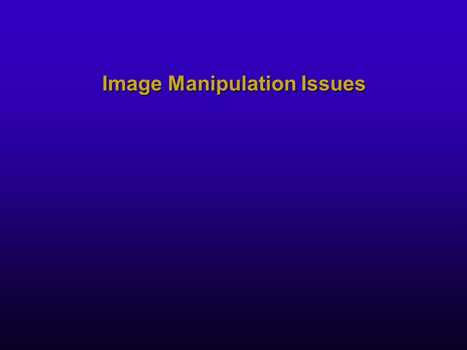 Image Manipulation Issues