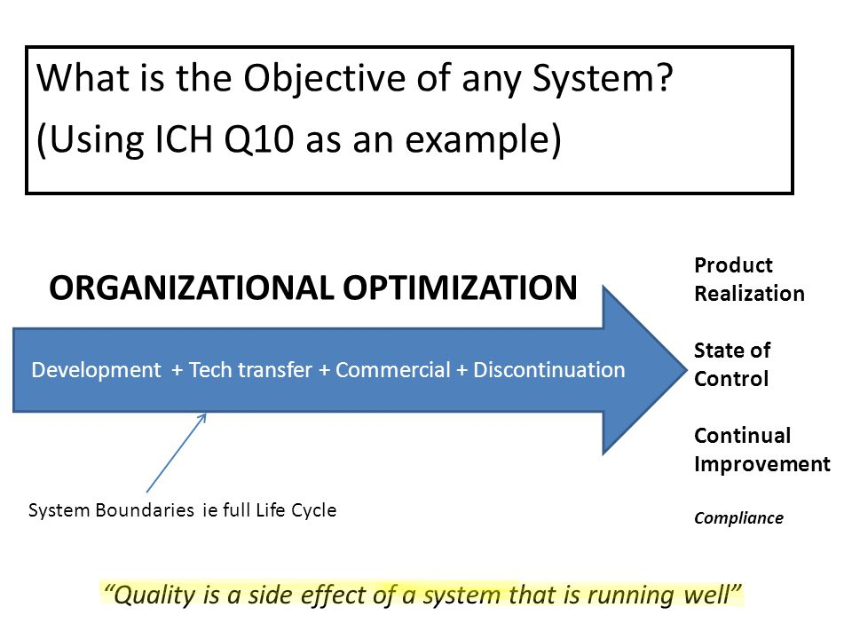 What is the Objective of any System.