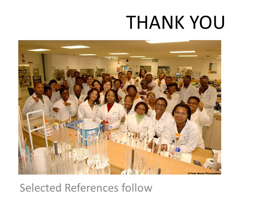 THANK YOU Selected References follow