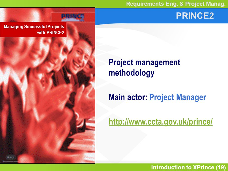 Introduction to XPrince (19) Requirements Eng. & Project Manag.