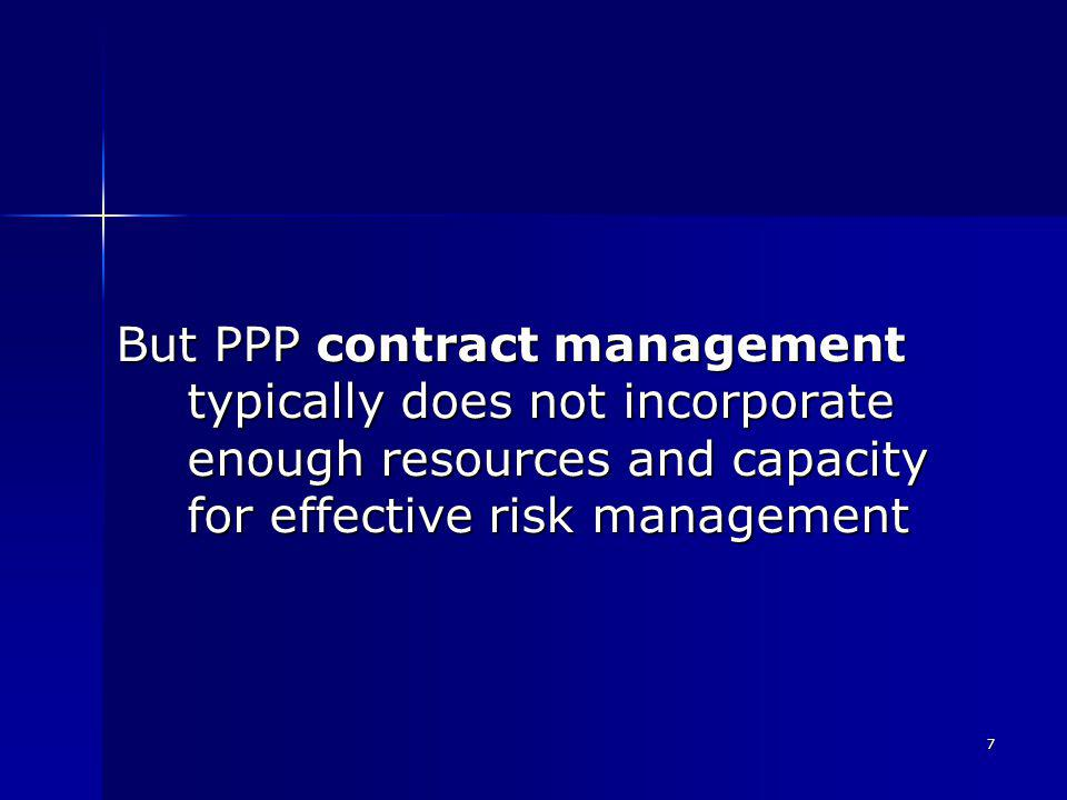8 1 st recommendation: Avoid appointing the contract manager just before (or after) contract close
