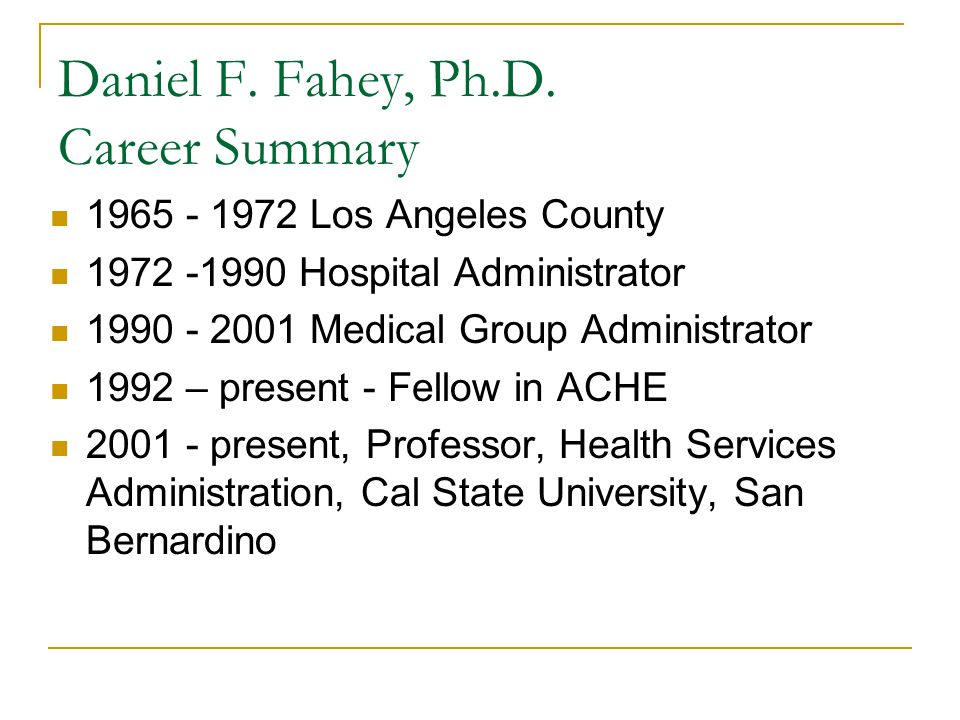 Daniel F. Fahey, Ph.D.