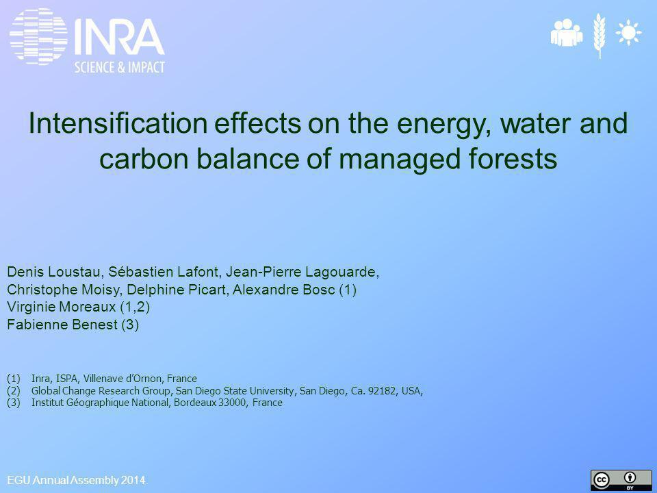Climatic Impacts of Forest intensification (Lee et al., Nature 2011; Bright et al., GCB 2014; Luyssaert et al.