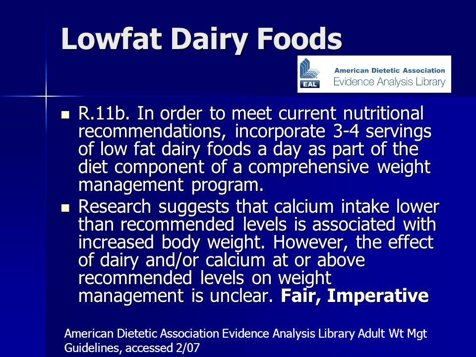 Lowfat Dairy Foods R.11b.