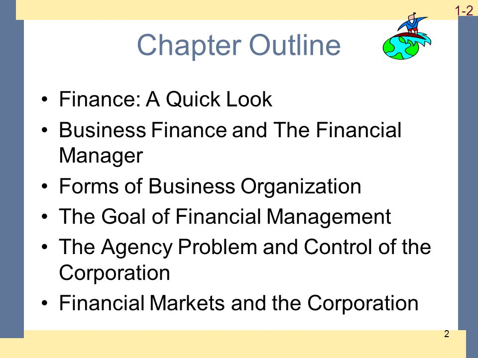 1-3 3 Basic Areas Of Finance Corporate finance Investments Financial institutions International finance