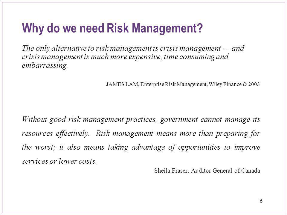 17 A Simple Framework Evaluate & Take Action Evaluate & Take Action Establish Objectives Establish Objectives Identify Risks & Controls Identify Risks & Controls Assess Risks & Controls Assess Risks & Controls Monitor & Report Monitor & Report Step 1Step 2Step 3Step 4Step 5 Communicate, learn, improve