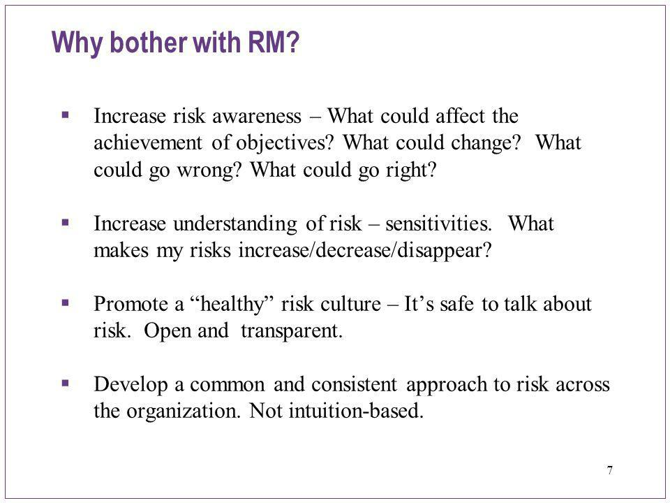 48 Ask questions and develop your approach  Do we understand our major risks.