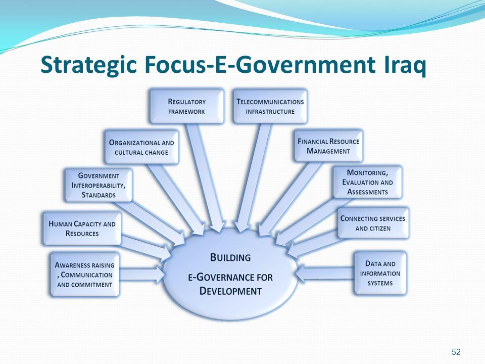 Strategic Focus-E-Government Iraq 52