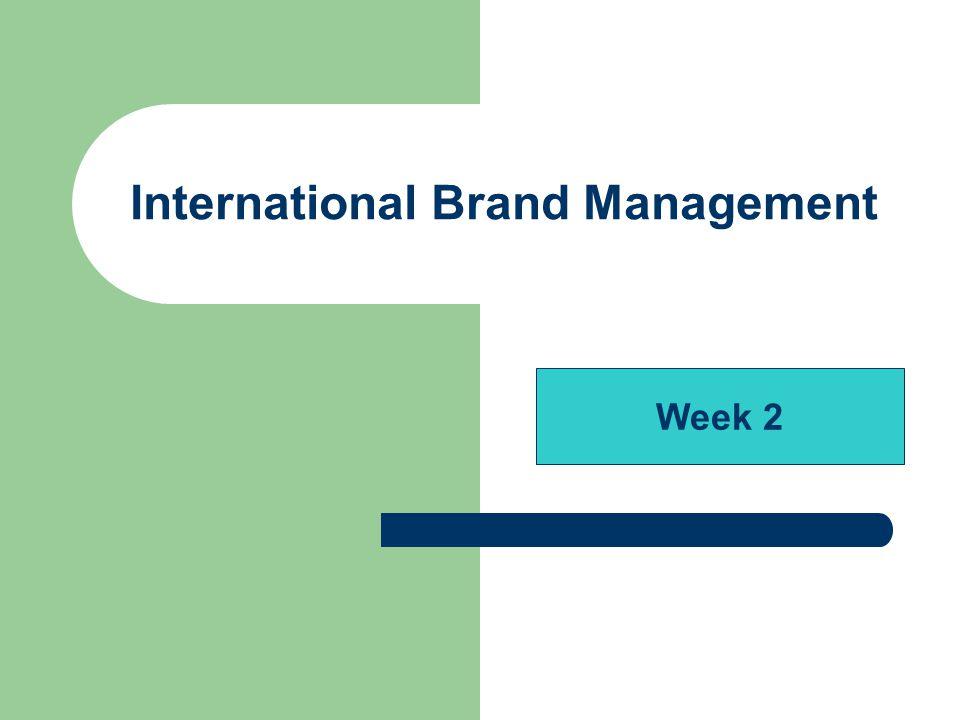 International Brand Management Week 2