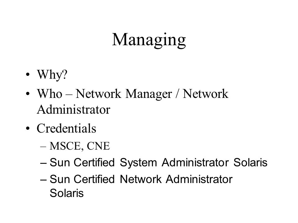 Managing Why.