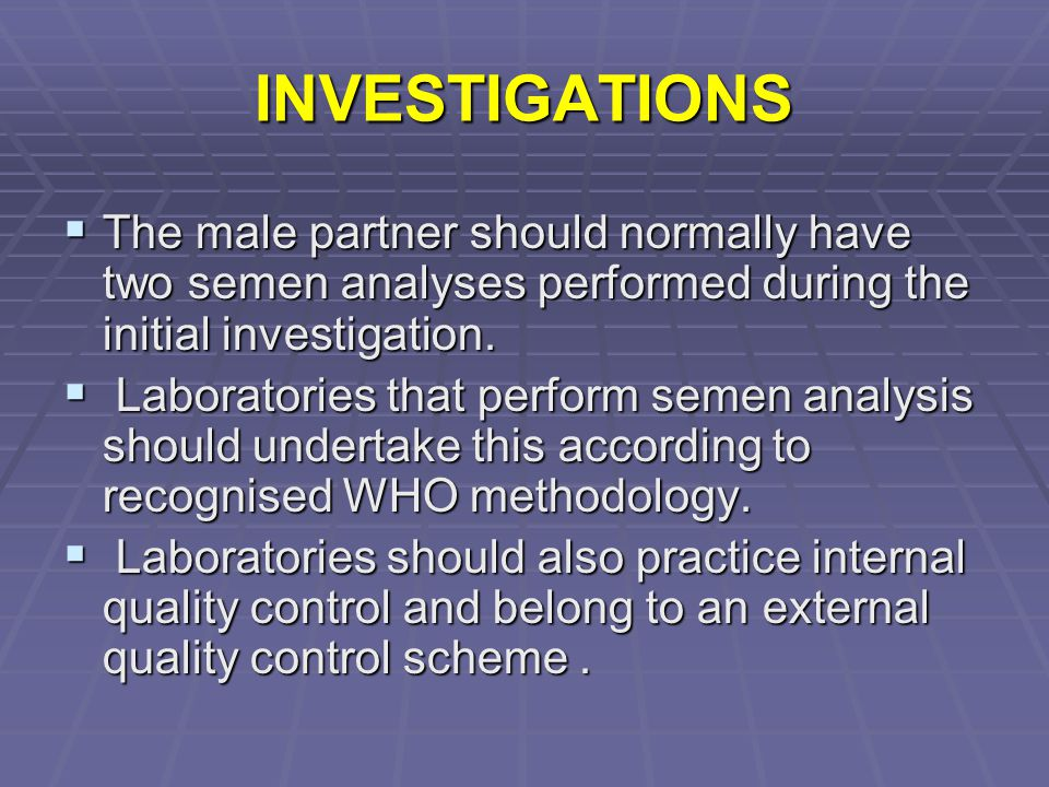 INVESTIGATIONS  While regular menstruation is strongly suggestive of ovulation, this should be confirmed by the measurement of serum progesterone in the mid-luteal phase  There is no value in measuring thyroid function or prolactin in women with a regular menstrual cycle, in the absence of galactorrhoea or symptoms of thyroid disease