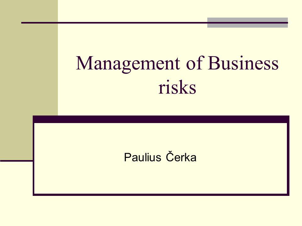 Management of Business risks Paulius Čerka