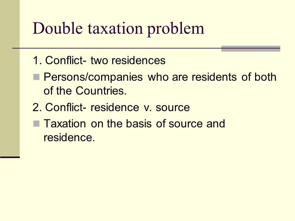 Double taxation problem 1.