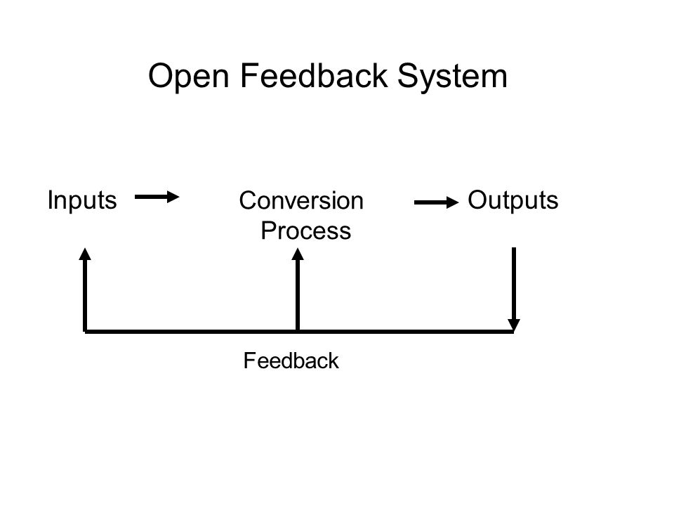 Open Feedback System Inputs Conversion Process Outputs Feedback