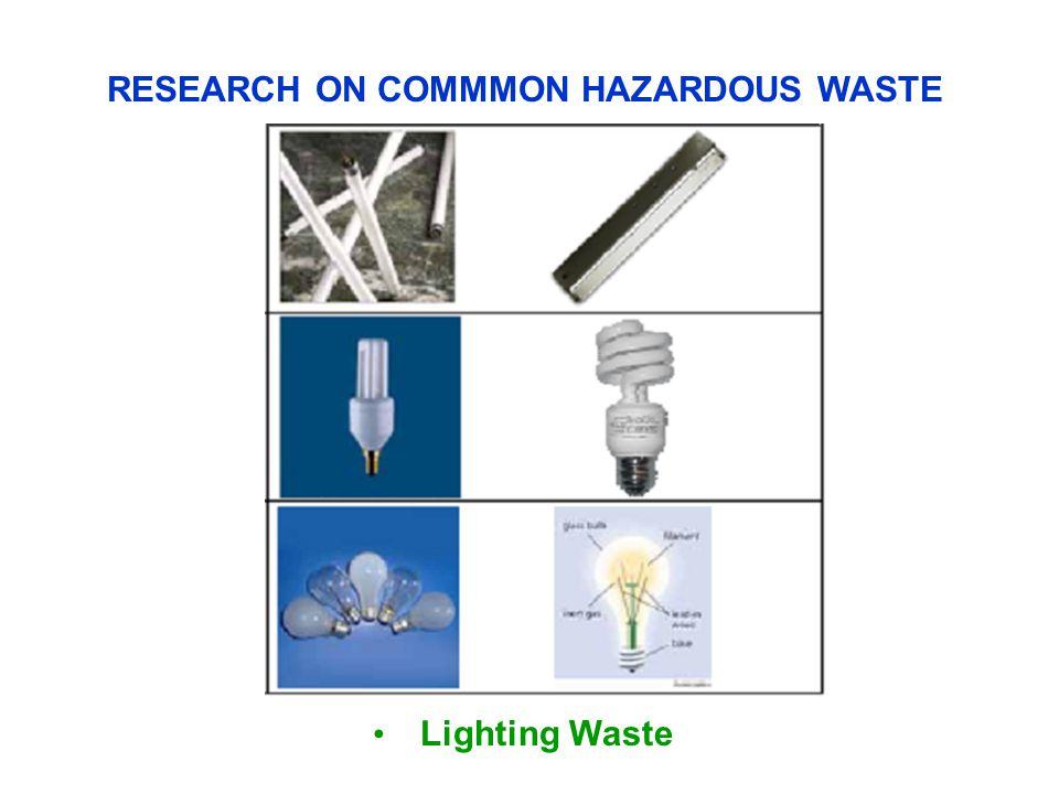 Lighting Waste RESEARCH ON COMMMON HAZARDOUS WASTE
