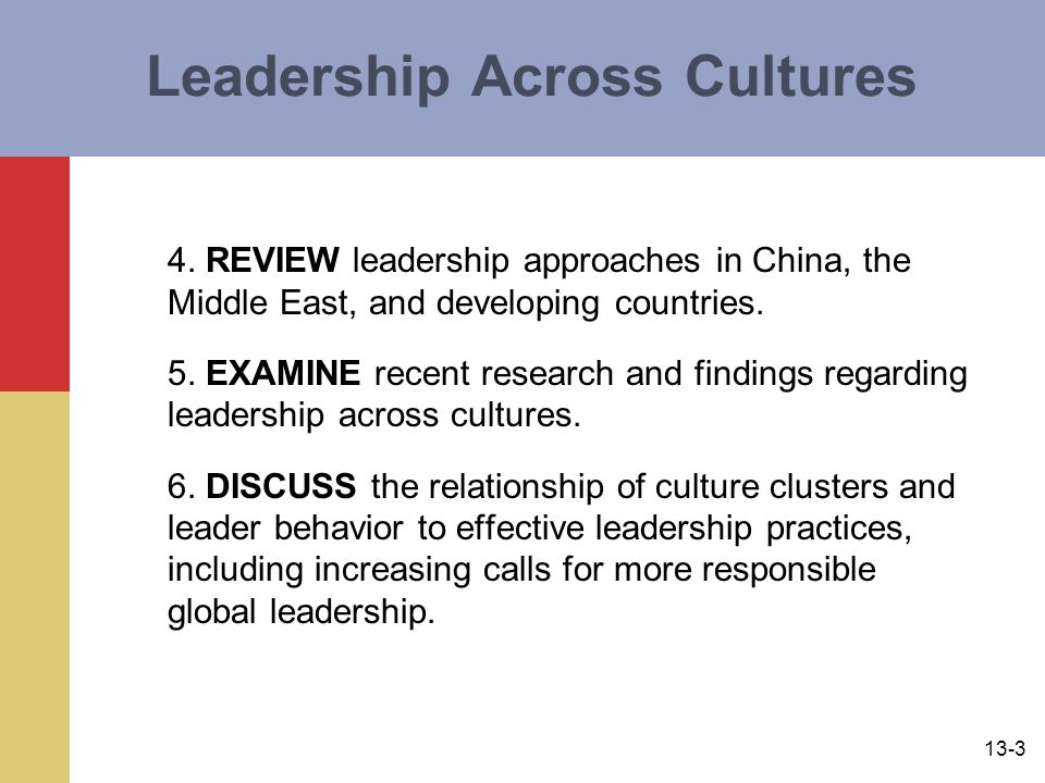 13-3 Leadership Across Cultures 4.