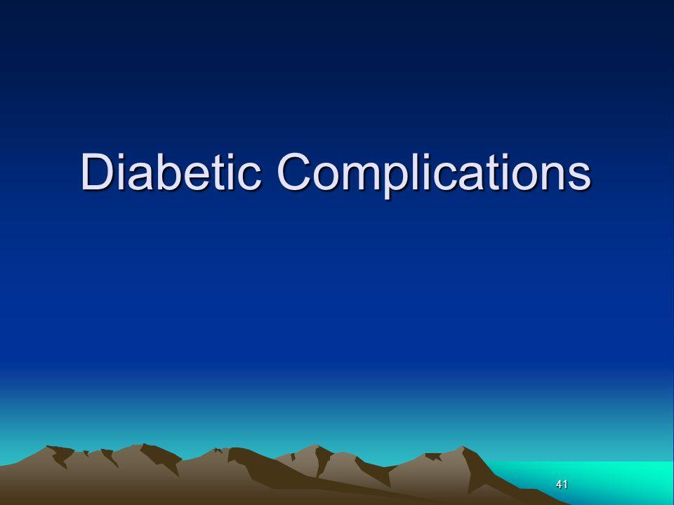 41 Diabetic Complications