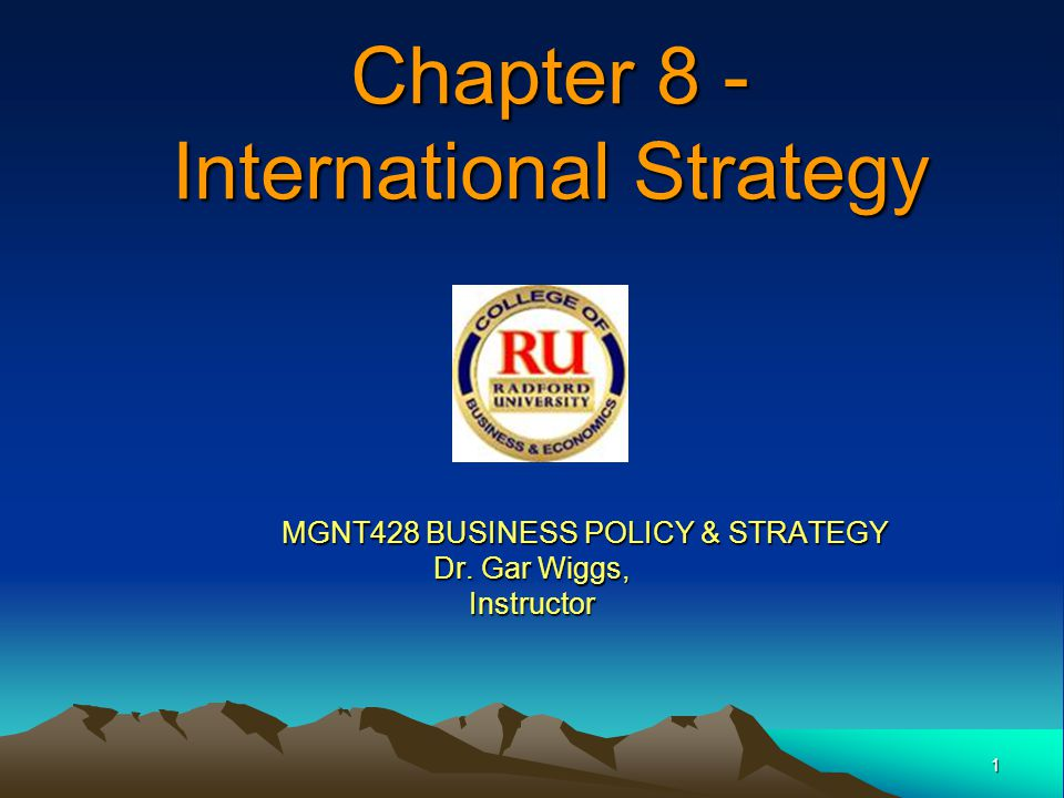 2 Knowledge Objectives Studying this chapter should provide you with the strategic management knowledge needed to: –Explain traditional and emerging motives for firms to pursue international diversification.