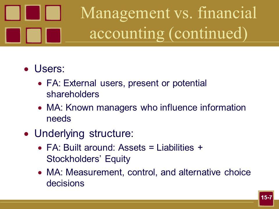 15-8 Management vs.